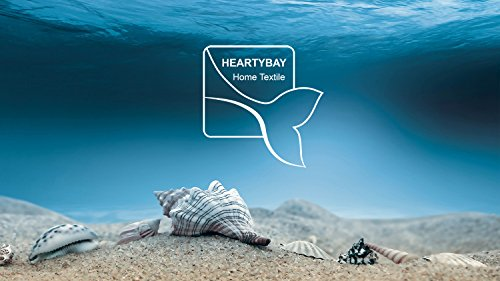 Heartybay Crochet Mermaid Tail Blanket for Adult, Super Soft All Seasons Sleeping Mermaid Blanket (71″x35.5″) – Blue