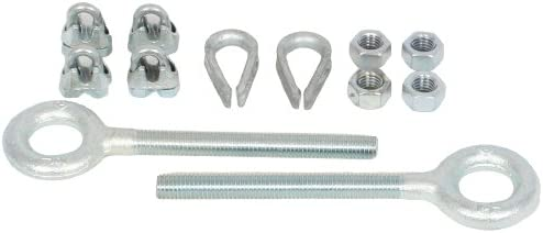 KH Industries FTSW-HW-KIT Stretch Wire Festoon Hardware Kit for 1//4 Wire Rope System Inc