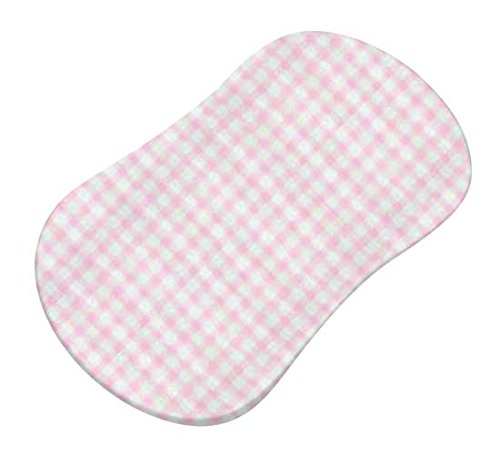 SheetWorld Fitted Bassinet Sheet (Fits Halo Bassinet Swivel Sleeper) - Pink Gingham Jersey Knit - Made In USA by SHEETWORLD.COM