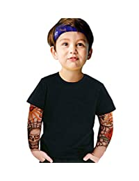 Gotend Toddler Boys Cotton T-Shirt with Tattoo Sleeve Tops 18-24 Months