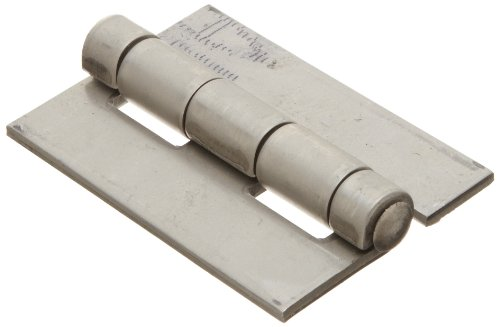 """Stainless Steel 316 Surface Mount Butt Hinge without Hole, 2B Mill Finish, 0.120"""" Leaf Thickness, 2"""" Open Width, 1/4"""" Pin Diameter, 3"""" Long, Non-Removable Pin (Pack of 1)"""