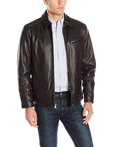 NO BRAND Boston Harbour Men's James Dean Leather Bomber w...