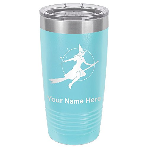 20oz Tumbler Mug, Halloween Sexy Witch, Personalized Engraving Included (Light -