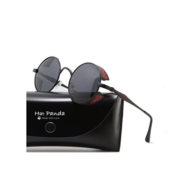 Polarized Round Retro Sunglasses Gothic Steampunk Sunglasses For Men And Women 3