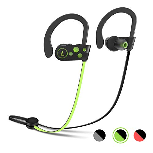 Wireless Bluetooth Headphones, Letsfit Sports Earphones Earbud Headphones with Mic Wireless Headset, Waterproof Sweatproof HD Stereo Earbuds for Running Gym Noise Cancelling 8 Hours Work Time