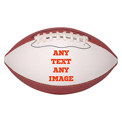 (Personalized Custom Photo Mini Football - Any Image - Any Text - Any Logo)