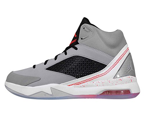 Jordan Mens Nike Air Jordan Flight Remix Basketball Shoes-Wolf Grey/Infrared 23-11.5