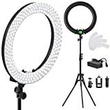 PIXEL 19 Inch Ring Light with Stand, 55W MultiTemp 3000-5800K Dimmable Circle LED Lighting for Selfie Makeup Videos, Built-in 2.4G Receiver w/UL Listed AC Adapter (No Carrying Bag, No Remote Control)