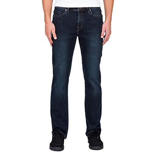 Volcom Men's Solver Denim Jean, Vintage Blue, 33X34 (Best Snowboard Apparel Brands)
