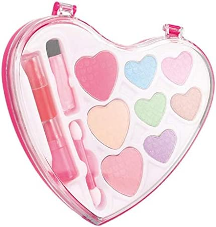 sharprepublic 化粧品おもちゃ 女の子 メイクセット ハートデザイン キッズコスメ メイクアップ おままごと ピンク