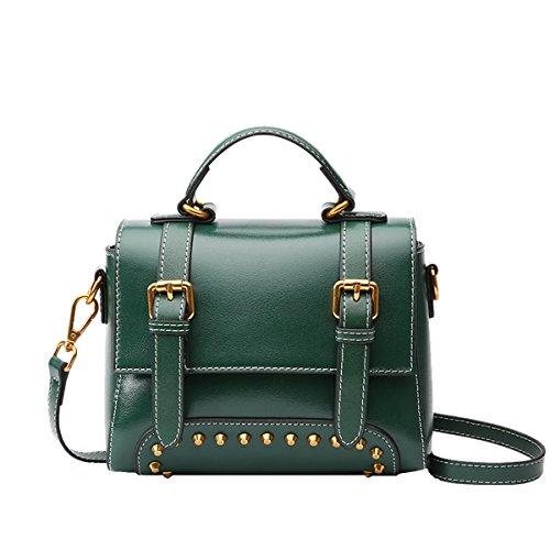 Soft Dissa Women Leather Multiple Bag Pockets Handbags Q0968 Shoulder Green EEFqawxp4n