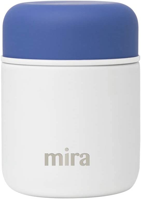 MIRA 9 oz Lunch, Food Jar - Vacuum Insulated Stainless Steel Lunch Thermos - White