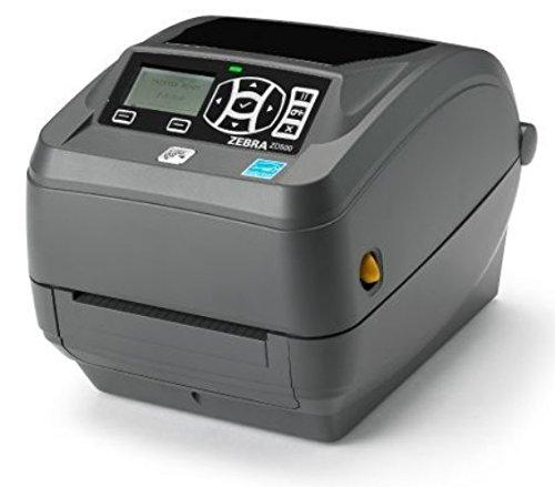 (Zebra Technologies ZD50042-T11200FZ Series ZD500 Thermal Transfer Performance Desktop Printer, 203 DPI, USB/Serial/Centronics Parallel/Ethernet, Peel, US Power Cord, Black)