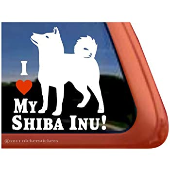 Mister Petlife I Love My Shiba Inu Sticker Vinyl Auto Window japanese ken PD-1107