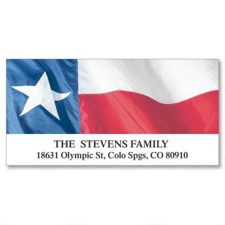 Lone Star Personalized Return Address Labels- Set of 144, Large Self-Adhesive, Flat-Sheet Labels, By Colorful Images ()