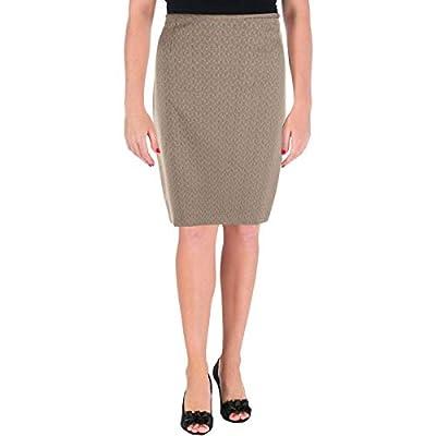 Le Suit Womens Melange Office Pencil Skirt