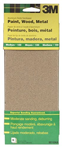 3M 9016NA 9'' Medium Paint, Wood, Metal Sandpaper Third Sheets