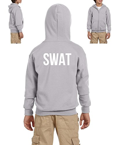 Mom's Favorite Novelty Hoodie SWAT S.W.A.T. Law Enforcement Police Halloween Costume Party Youth Hoodies Zip Up Sweater ()
