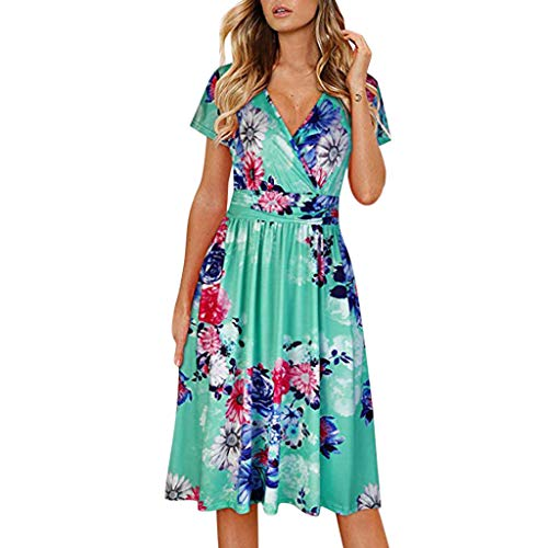 RUIVE Women's Retro Dresses Bandeau Club Print Button Strappy Backless Black Blue Evening Party Knee Length -
