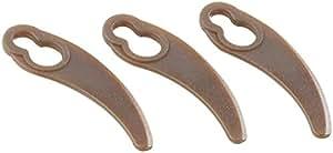 AGT–Cuchillas de repuesto para el cojín de aire–Cortacésped (NX CP-5016), Juego de 3
