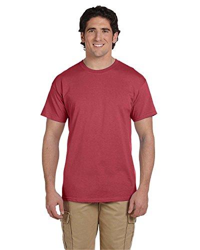 (Fruit of the Loom 5 Oz, 100% Heavy Cotton HD T-Shirt, Small, Crimson)