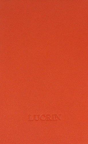 Lucrin - Schutzhülle für MacBook Air 11 Zoll - Violett - Glattleder Orange