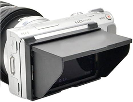 Campana extractora con pantalla LCD Pop-up Cover Protector de pantalla para Sony Alpha NEX-3, NEX-5, NEX-C3, sustituye a PCK-LH1EM: Amazon.es: Electrónica