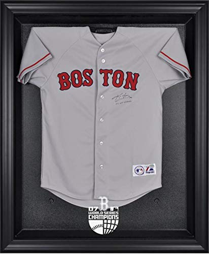 2007 World Series Logo Case - Boston Red Sox 2007 World Series Champs Framed Logo Jersey Display Case