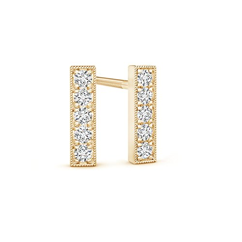 Pure Ignis Lab Grown Diamond Linear Bar Stud Earrings in 14K Yellow Gold by Pure Ignis (Image #1)