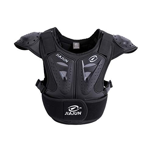 Children's Sports Protective Vest high Strength PE Sports Protective Equipment (Black, M) by Shindn (Image #7)