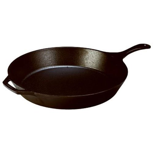 Lodge Oversized Seasoned Cast Iron Skillet - 17 Inch Cast Iron Frying Pan with Loop Handles (Made in USA)