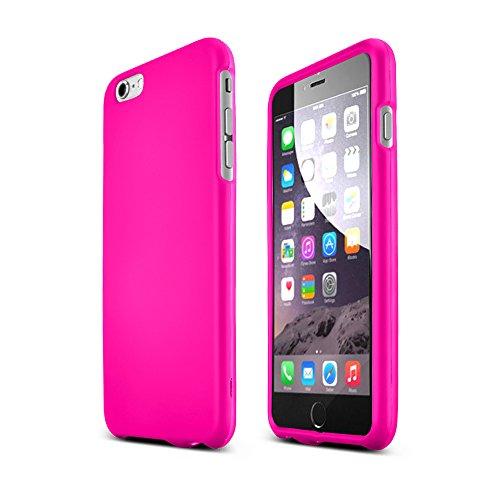 Design Rubberized Hard Case (Hot Pink Apple iPhone 6 Plus Matte Rubberized Hard Case Cover; Perfect fit as Best Coolest Design Plastic)