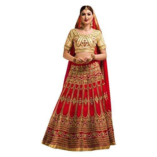 New pattern Royal Red Golden work Dress Wedding Bollywood Designer Bridal Lehenga chaniya choli Dupatta Women Custom to Measure Indian 2656