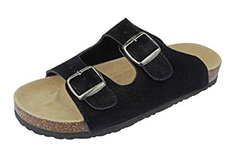 5f361702c Outwoods Women s Bork-46 Vegan Leather Adjustable Double-Strap Slip-On  Sandals