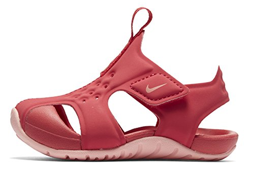 NIKE Girl's Sunray Protect Sandal, Tropical Pink/Bleached Coral, (Nike Lightweight Sandals)