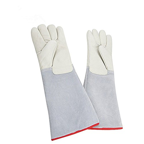 Inf-way Cryogenic Gloves Waterproof LN2 Liquid Nitrogen Protectiove Gloves Cold Storage Frozen Safety Working Gloves (White Large (24.41''/62cm)) by Inf-way (Image #4)