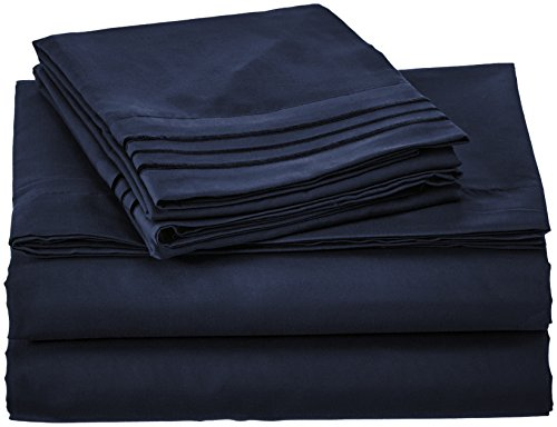 Clara Clark 4 Piece Premier 1800 Series Sheet Set, Queen, Na