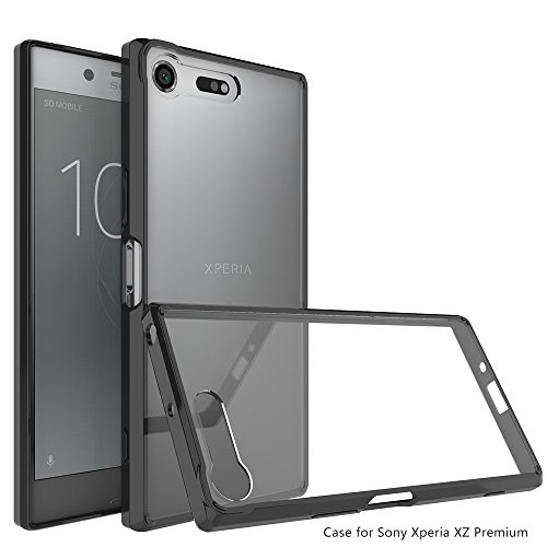 Price comparison product image Sony Xperia XZ Premium Case,Ucc Crystal Clear,TPU Bumper Ultra Slim Protective Case with Anti-Scratch for Sony Xperia Premium (Black)