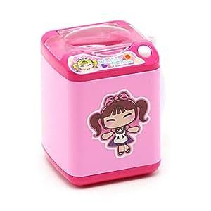 Maquillaje Limpiador de Pinceles y Dispositivo de Secado Simulación Limpieza automática Mini Lavadora Juguete para Maquillaje Cepillo de Esponja y Soplo de Polvo