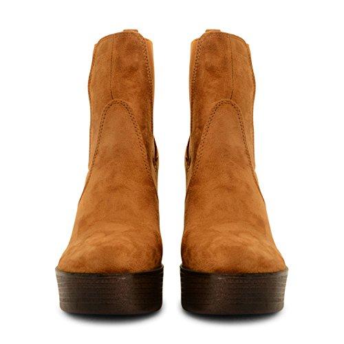 Footwear Sensation - Botas para mujer - PD4-Tan Suede