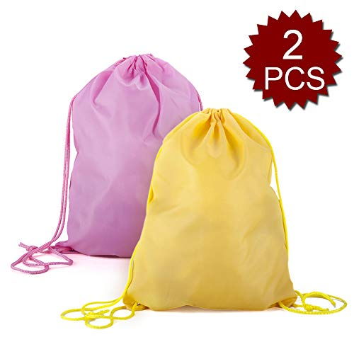 (Price/1PCS) GOGO Drawstring Backpack Goodie Bags Gym Sack For Birthday Party Favor Giveaways by Opromo (Image #1)