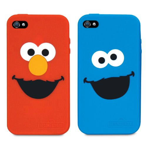 Elmo Silicone Case - iSound Sesame Street Elmo and Cookie Monster Silicone Case for iPhone 4/4S