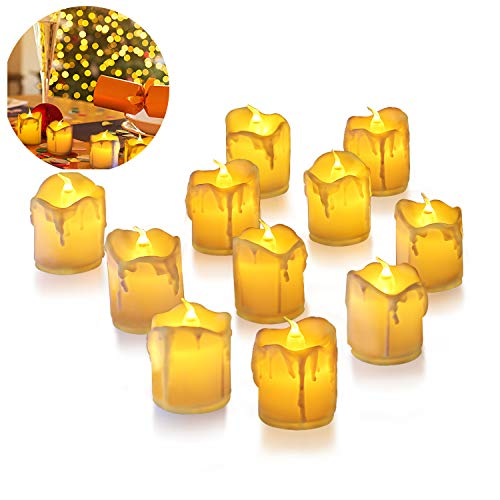 LED Candles,Christmas Party Table Decorations,Realistic