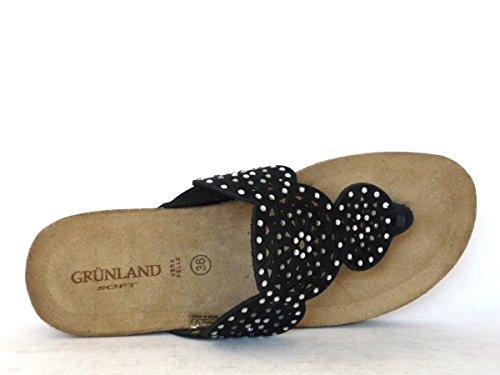 Donna Nero P ANIN CB1598 Grunland Ciabatta 6Xqz0xtPtw