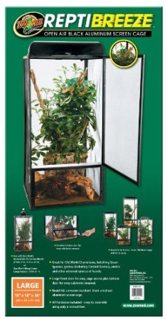Zoo-Med-ReptiBreeze-Open-Air-Screen-Cage-Large-18-x-18-x-36-Inches