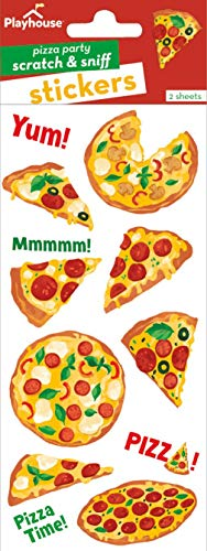 Playhouse Pizza Party Pizza Scented Scratch & Sniff Sticker Sheets
