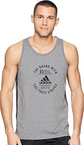 adidas Men's Badge of Sport Emblem Tank Top White/Black X-Large