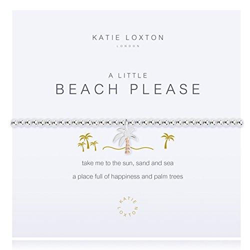 Katie Loxton A Little Beach Please Palm Tree Silver Women's Stretch Adjustable Charm Bangle (Best Palm Beach Jewelry Bracelets)