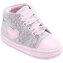 KONFA Toddler Baby Boys Girls Heart Pattern Anti-slip Shoes,for 0-18 Months,Lovely Single Prewalker Sneakers