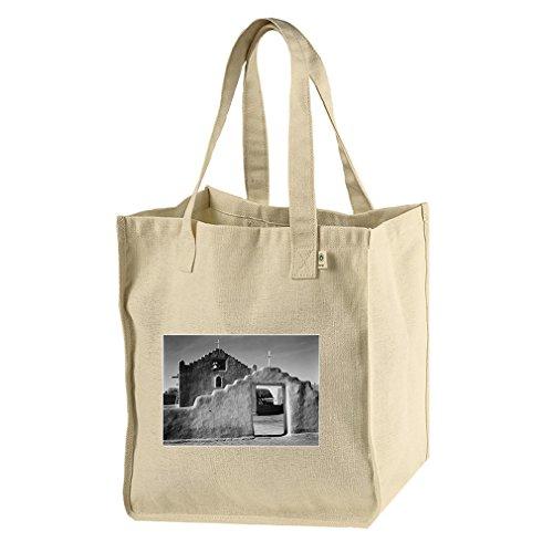 Church Taos Pueblo New Mexico 2 (Adams) Hemp/Cotton Canvas Market Bag Tote by Style in Print